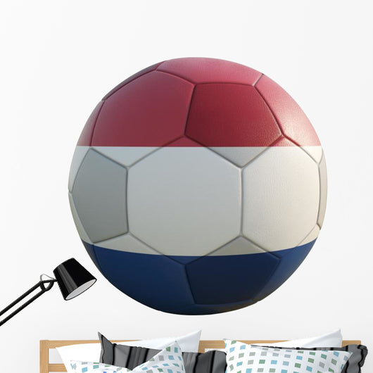 netherland soccer ball isolated on white Wall Decal