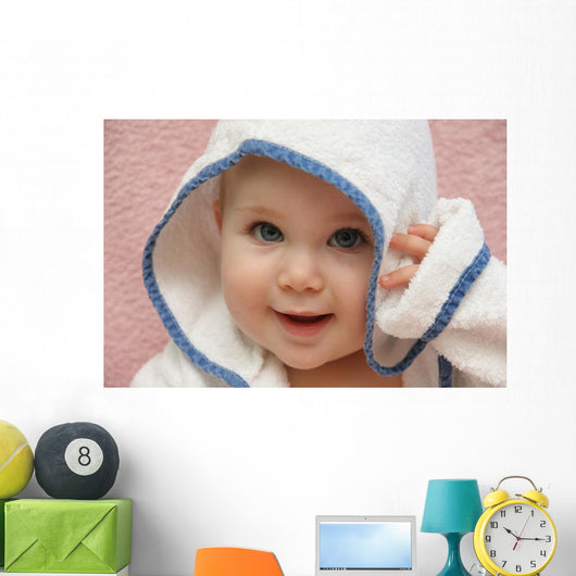 portrait of a baby with hood Wall Mural