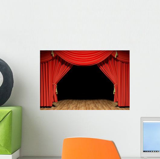 Red Stage Theater Velvet Wall Mural