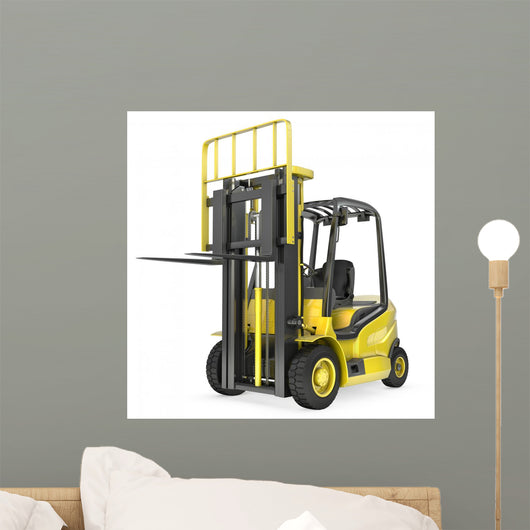 Yellow Fork Lift Truck