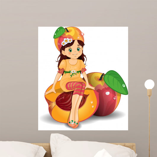 Bmba Pesca-Child Peach Wall Decal