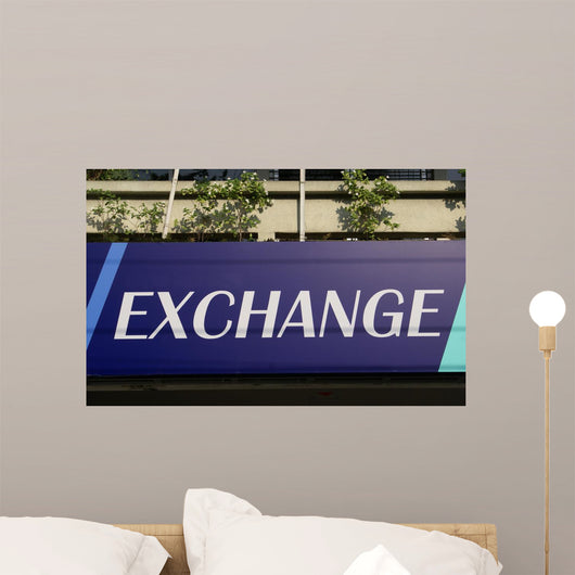 Exchange Sign Wall Mural