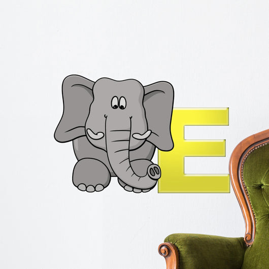 Alphabet Letter E Wall Decal