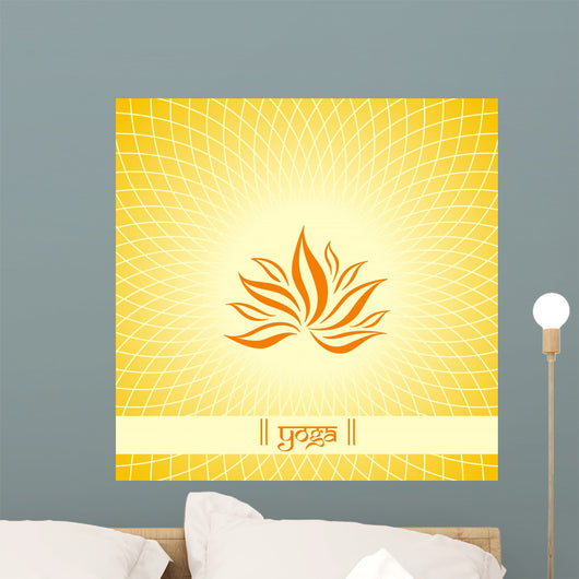 lotus flower , Buddha , Buddhism , India , Asia Wall Mural