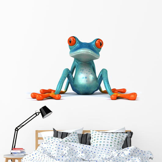 Blue Frog Wall Decal