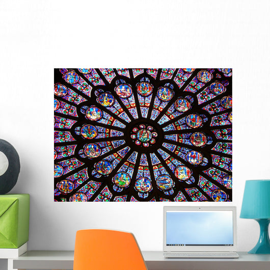 Stained-glass Window Notre-dame Cathedral Wall Decal