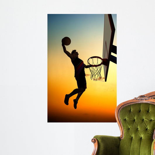 Man Dunking a Basketball Wall Decal