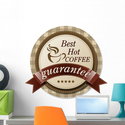 Best Hot Coffee Label Wall Decal