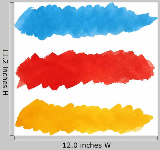 Set of colorful strokes of paint brush Wall Decal
