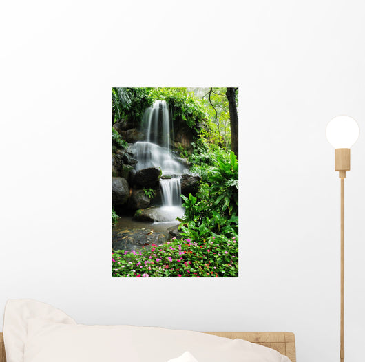 Beautiful Waterfall Garden Wall Decal