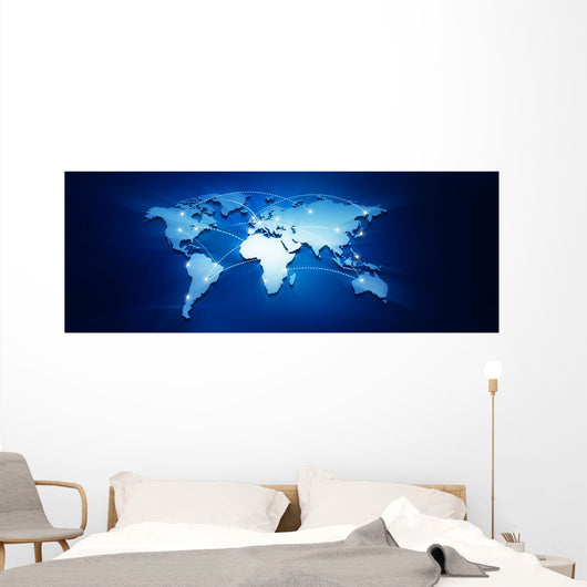 Connected Earth Wall Decal