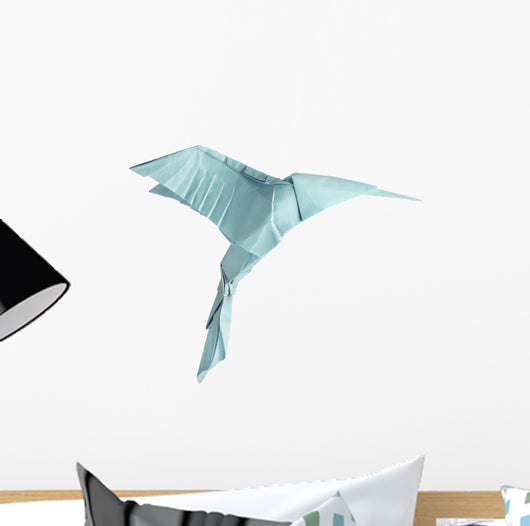 origami isolated hummingbird Wall Decal