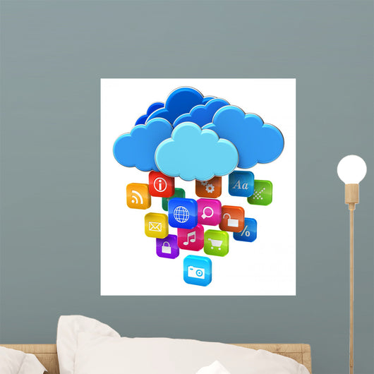 Cloud Computing and Mobility Wall Decal
