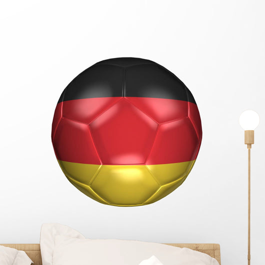 3D Soccer Balls with Wall Decal
