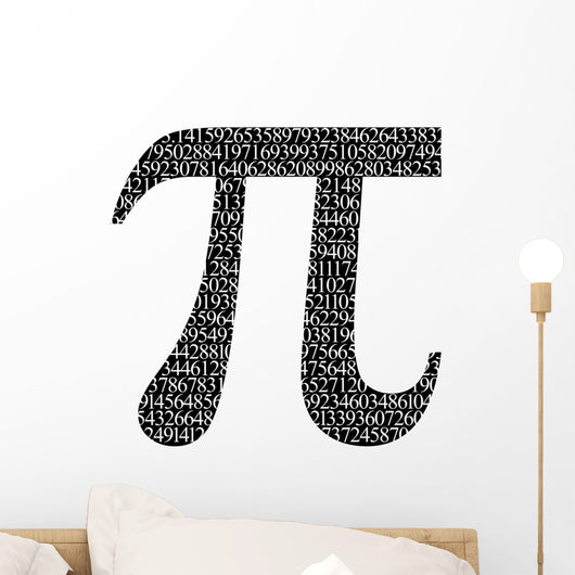 Pi Numbers Wall Decal