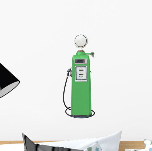 Antique Green Gas Pump Wall Decal