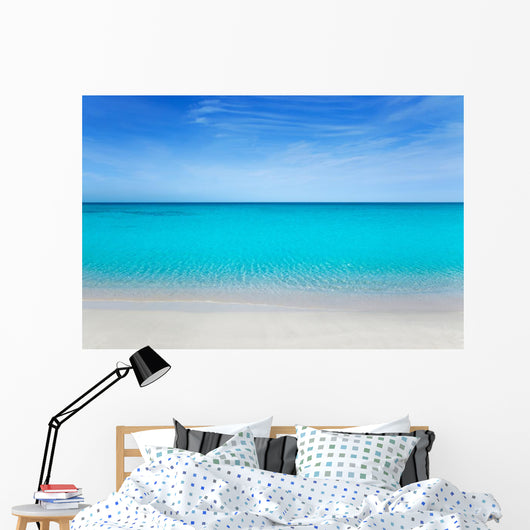 Tropical Beach with White Sands Wall Decal