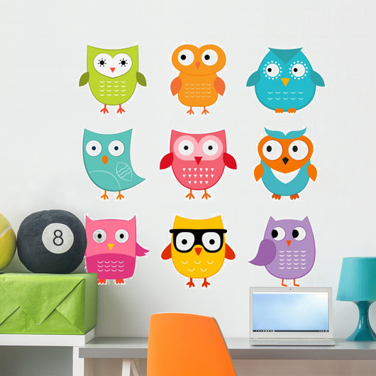 Owls Set Wall Decal
