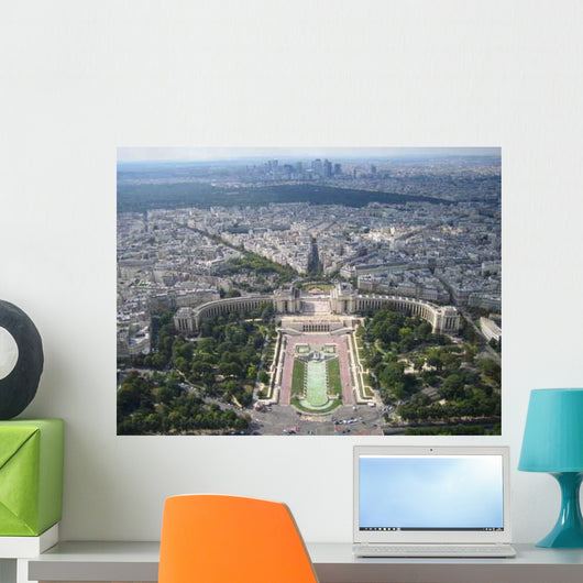 Paris from Sky Wall Decal