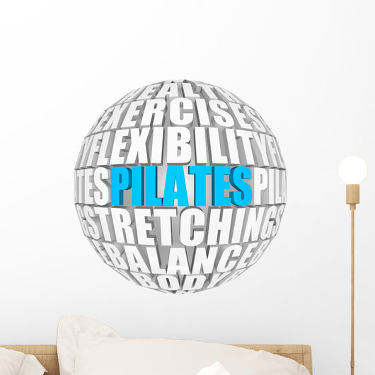 Pilates Word Sphere Wall Decal