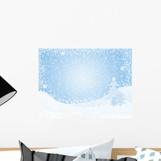 Winter Snow Illustration Wall Decal