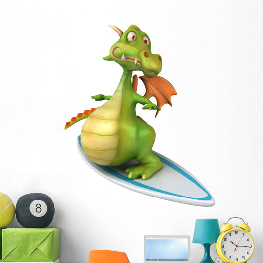 Dragon Surfing Wall Decal