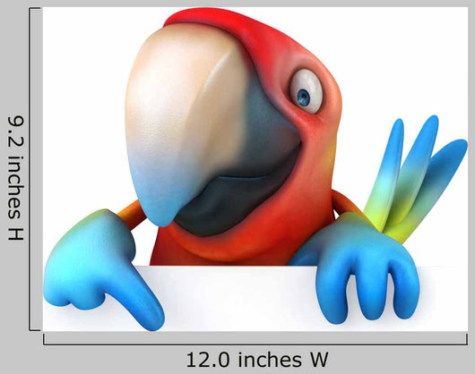 CG Parrot Wall Decal