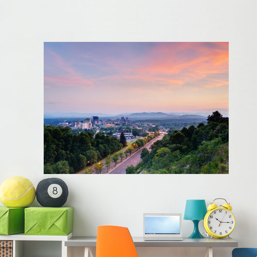 Asheville Skyline Wall Decal