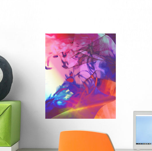 Techno Psychedelia Wall Decal