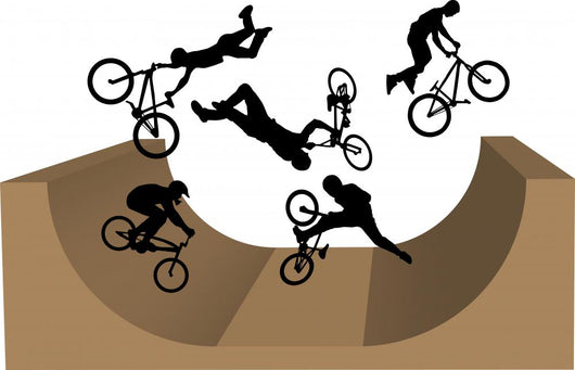 Cycling BMX Silhouette Wall Decal