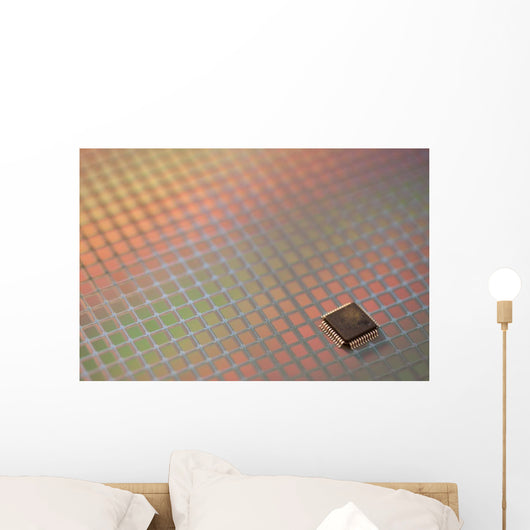 Silicon Ics Wafer Wall Decal