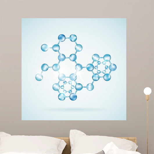Icon Molecular Structure Wall Decal