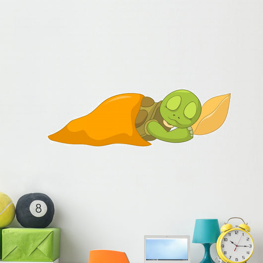 Funny Turtle Baby Sleeping Wall Decal