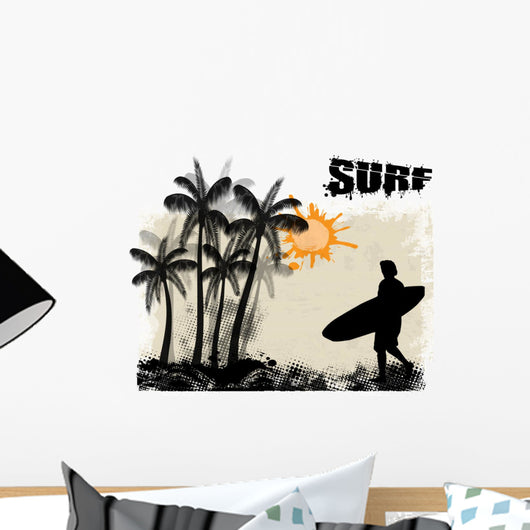 Surf Poster Wall Decal