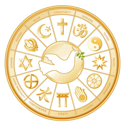 World Religions Mandala Dove Wall Decal