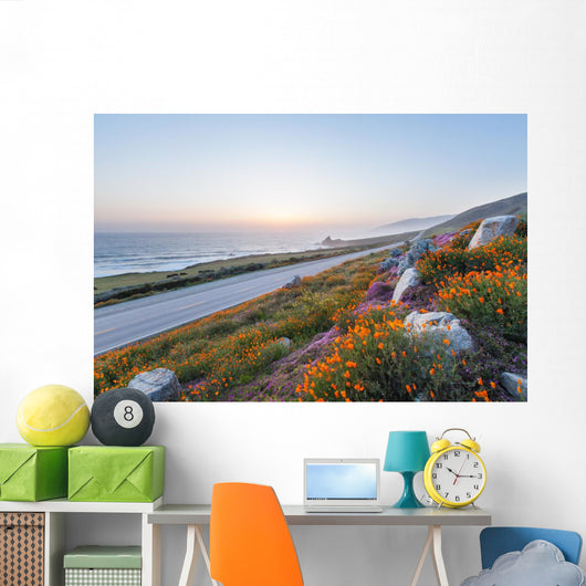 Wild Flowers Big Sur Wall Decal
