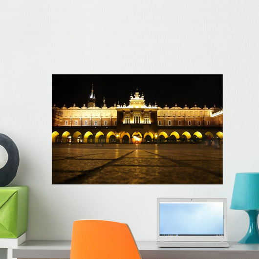 Krakow Square Night Wall Decal