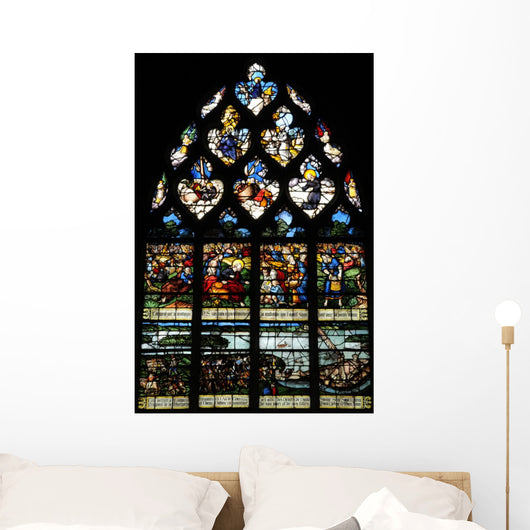 France Historical Church Stained Glass 2 Wall Decal