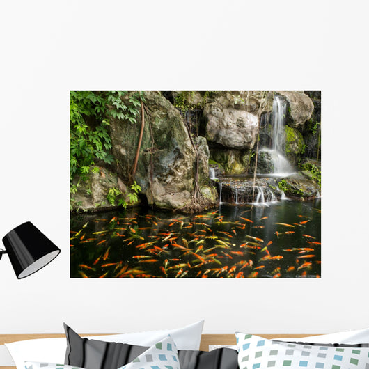 Koi Fish Garden Pond Wall Decal