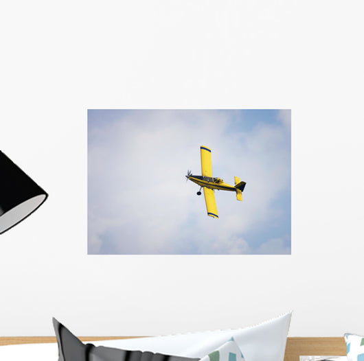 Yellow Crop Duster Wall Decal