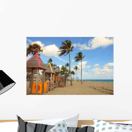 Beachfront Playground Wall Decal