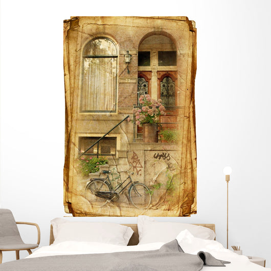 Streets Old Amsterdam Wall Decal