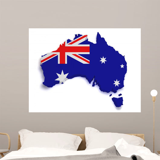 Australia Flag Map Wall Decal