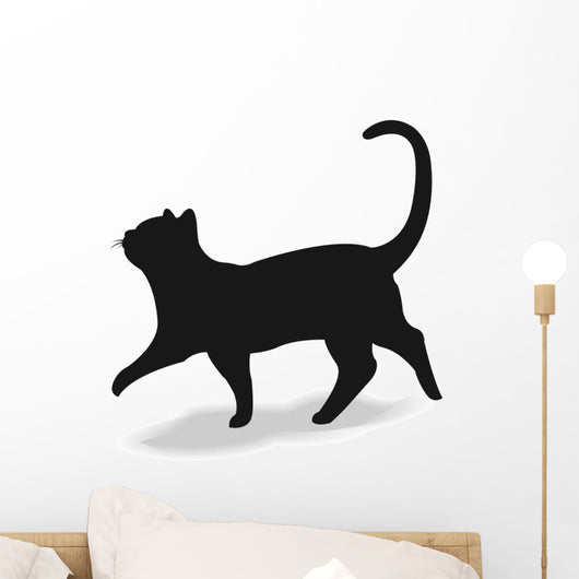 Form contour cat Wall Decal