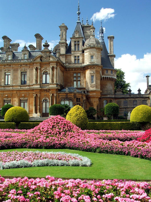 Waddesdon Manor - portrate of house and garden Wall Mural