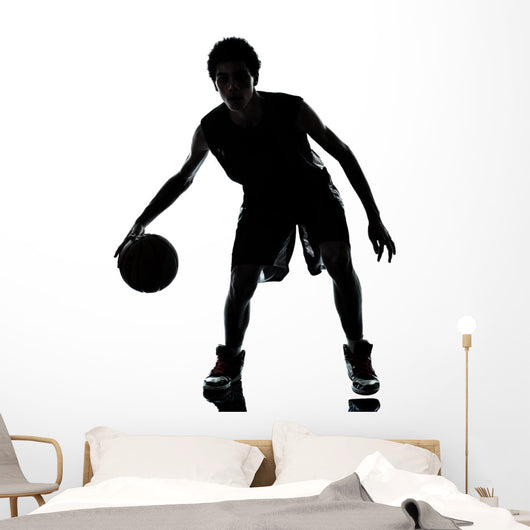 Basketball Player Silhouette Wall Mural