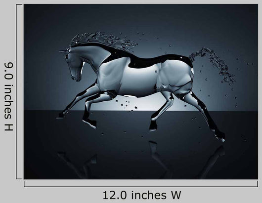 Water Running Horse over