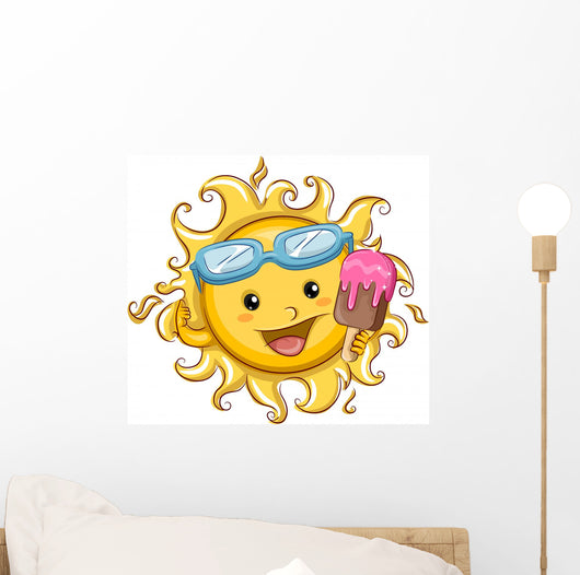 Sun Holding a Popsicle Wall Decal