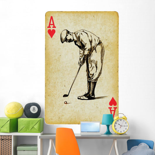 Ace Golf Hand Drawing