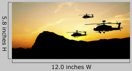 Helicopter Silhouettes Sunset